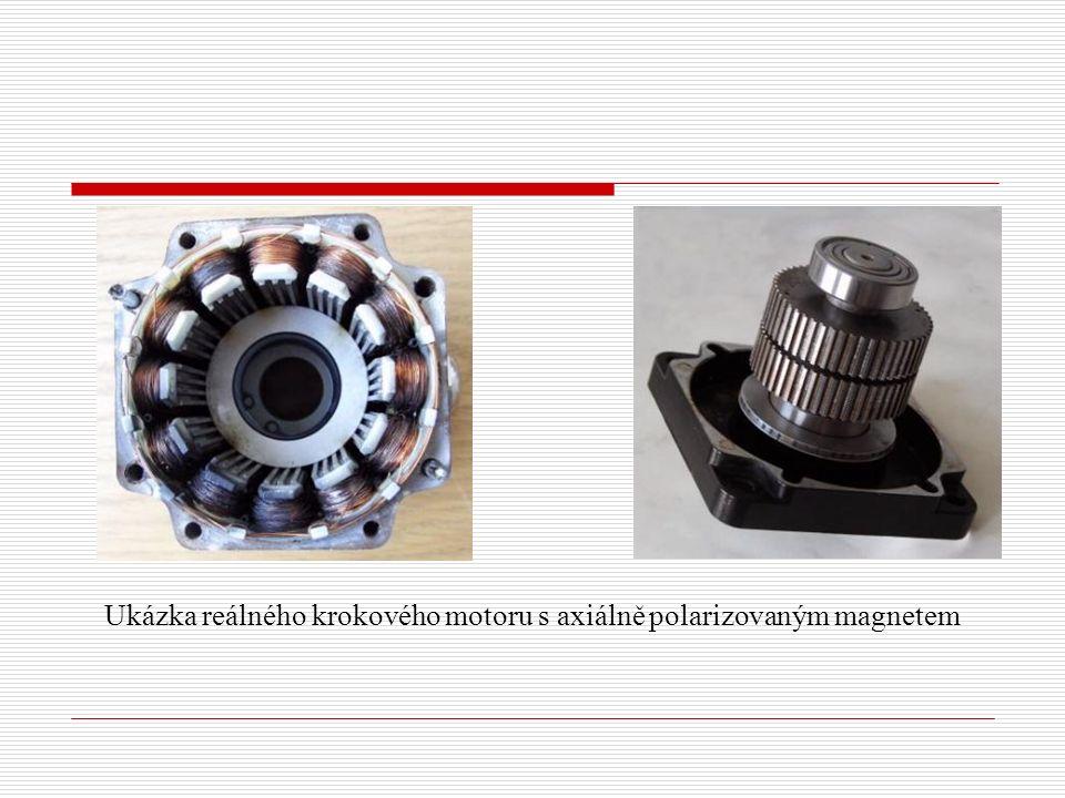 Ukázka reálného krokového motoru s axiálně polarizovaným magnetem
