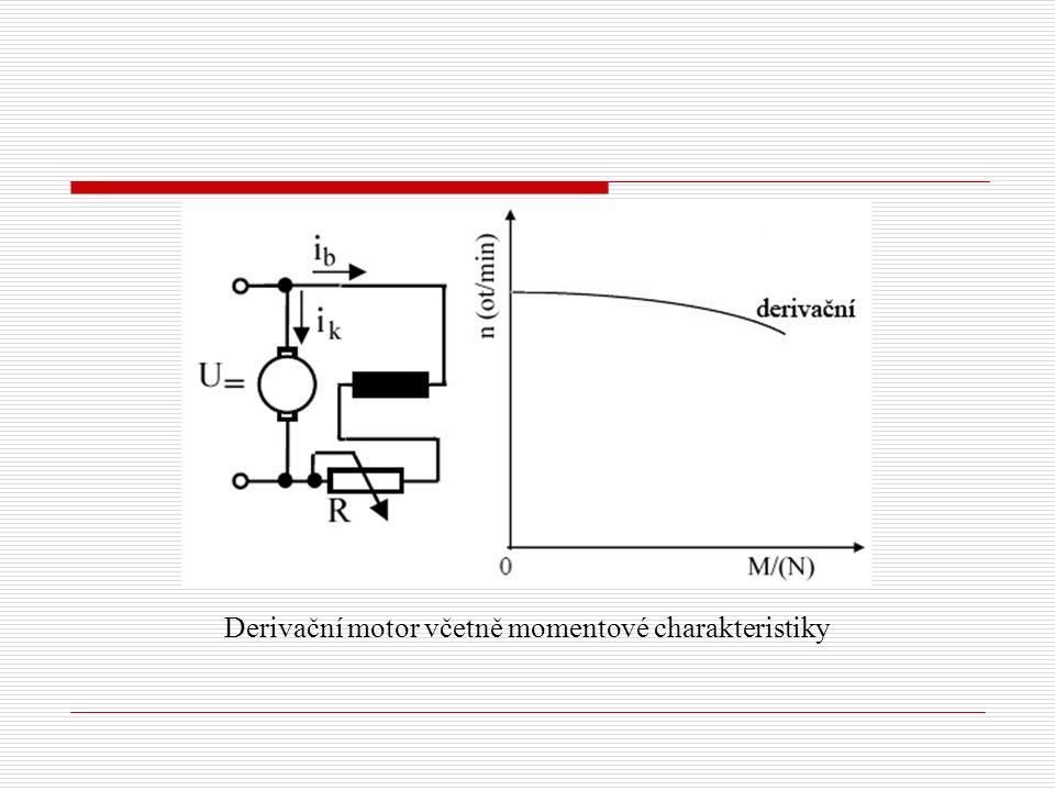 Derivační motor včetně momentové charakteristiky