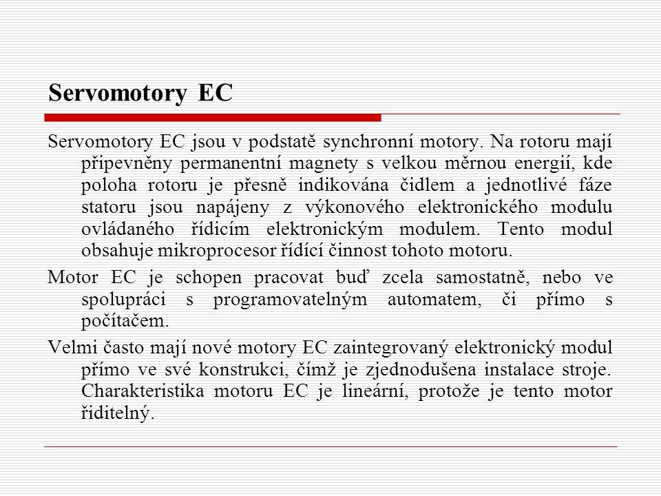 Servomotory EC Servomotory EC jsou v podstatě synchronní motory.