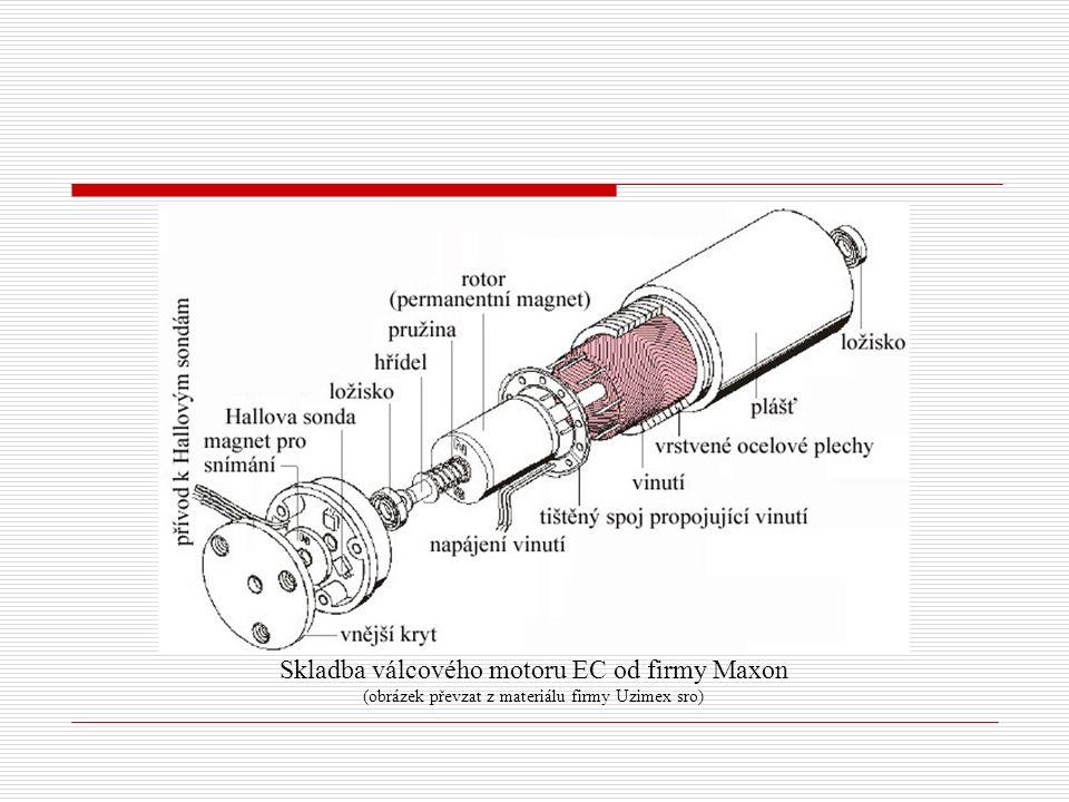 Skladba válcového motoru EC od firmy Maxon (obrázek převzat z materiálu firmy Uzimex sro)