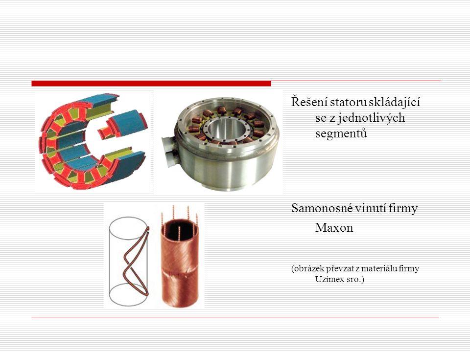 Řešení statoru skládající se z jednotlivých segmentů Samonosné vinutí firmy Maxon (obrázek převzat z materiálu firmy Uzimex sro.)