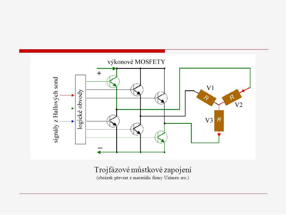 Trojfázové můstkové zapojení (obrázek převzat z materiálu firmy Uzimex sro.)