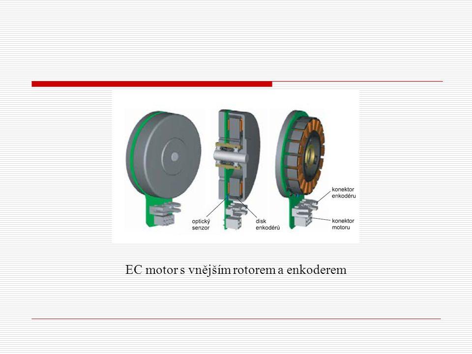 EC motor s vnějším rotorem a enkoderem