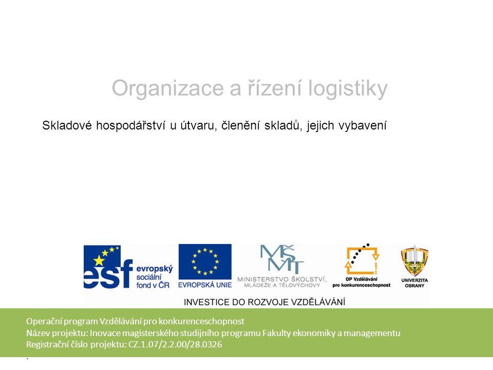 Operační program Vzdělávání pro konkurenceschopnost Název projektu: Inovace magisterského studijního programu Fakulty ekonomiky a managementu Registrační číslo projektu: CZ.1.07/2.2.00/28.0326.