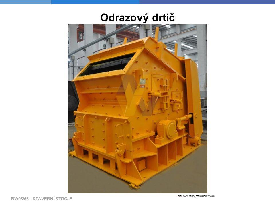BW06/56 - STAVEBNÍ STROJE Zdroj: www.minggongmachinery.com Odrazový drtič