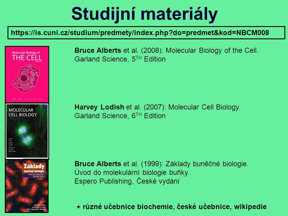 Studijní materiály Bruce Alberts et al. (2008): Molecular Biology of the Cell.