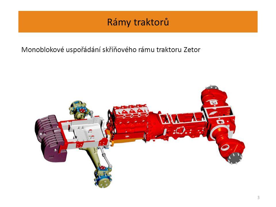 Rámy traktorů Pomocný rám traktorů pro uložení přední nápravy a přídavného zařízení. 4