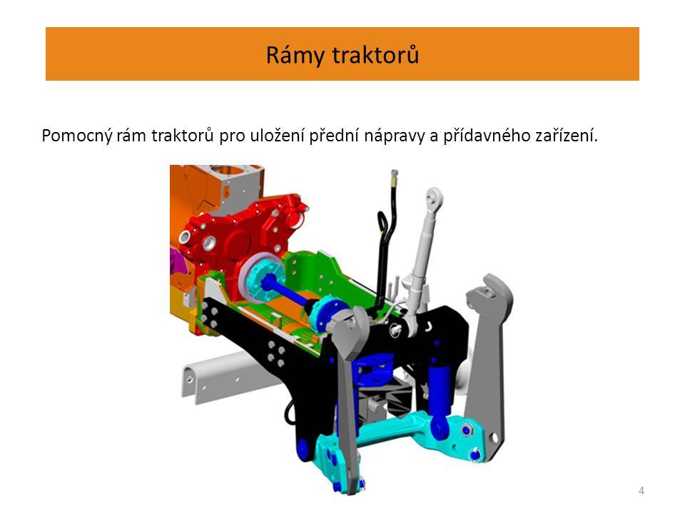 Rámy traktorů Skříňový rám traktoru Zetor na montážní lince. 5