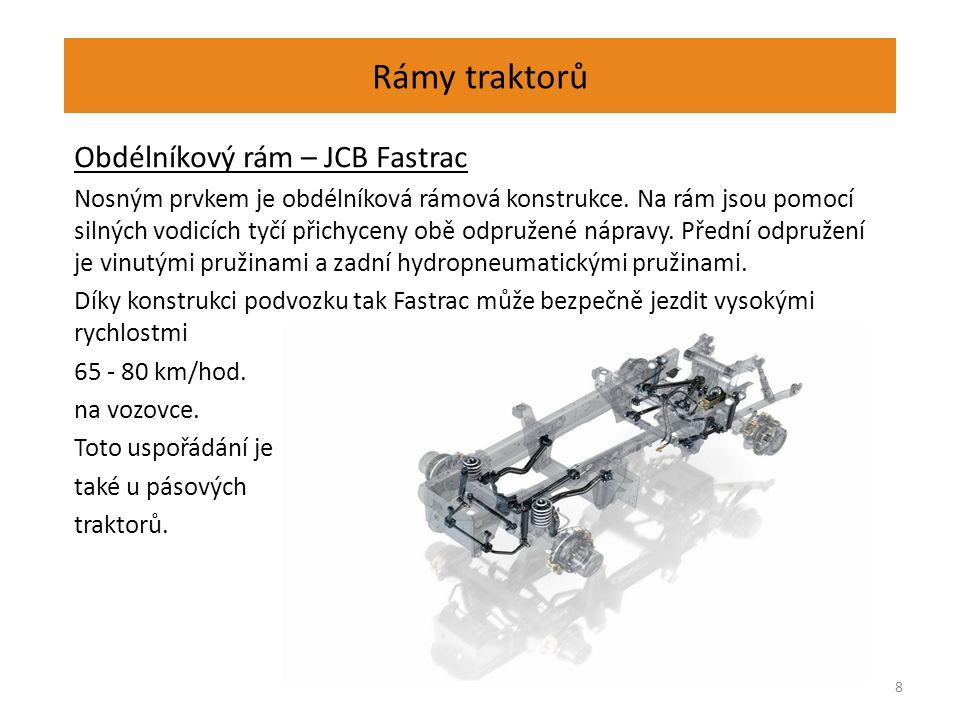 Rámy traktorů Obdélníkový rám – JCB Fastrac – pohonná jednotka 9