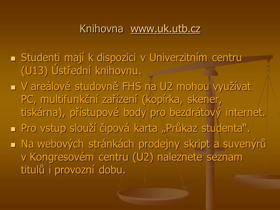 Knihovna www.uk.utb.cz www.uk.utb.cz Studenti mají k dispozici v Univerzitním centru (U13) Ústřední knihovnu.