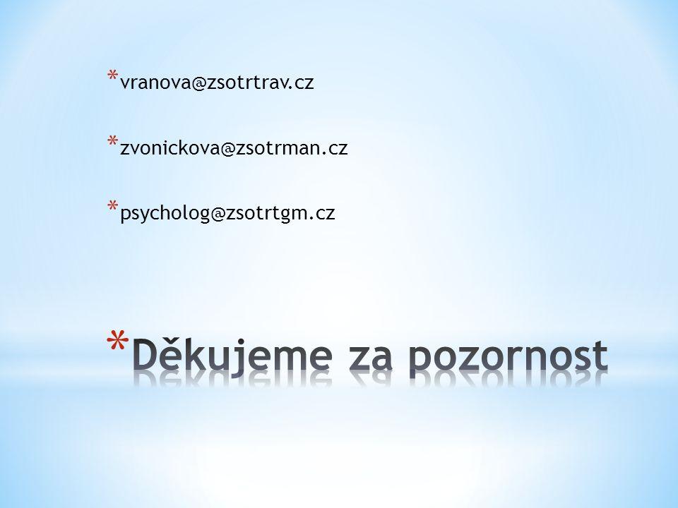 * vranova@zsotrtrav.cz * zvonickova@zsotrman.cz * psycholog@zsotrtgm.cz