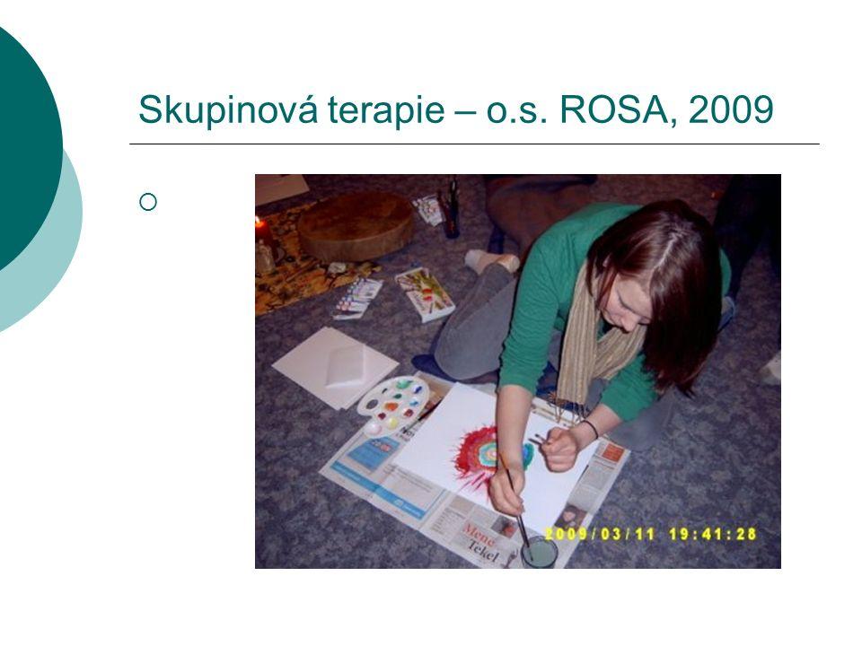 Skupinová terapie – o.s. ROSA, 2009 
