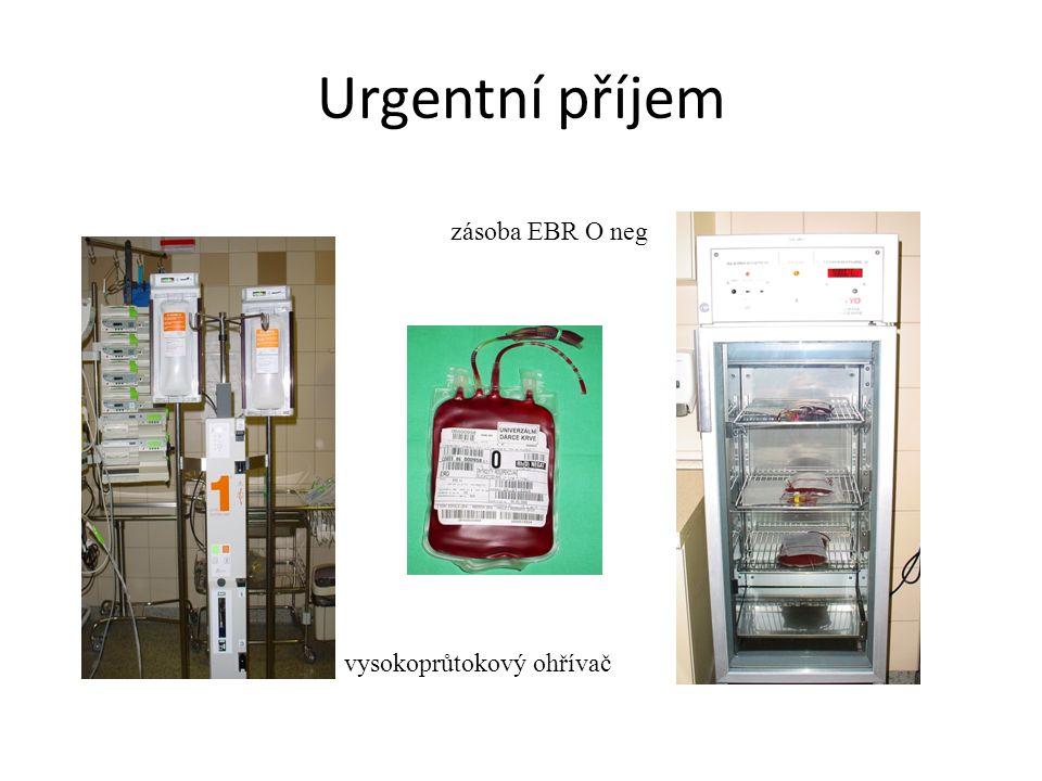 Urgentní příjem zásoba EBR O neg vysokoprůtokový ohřívač