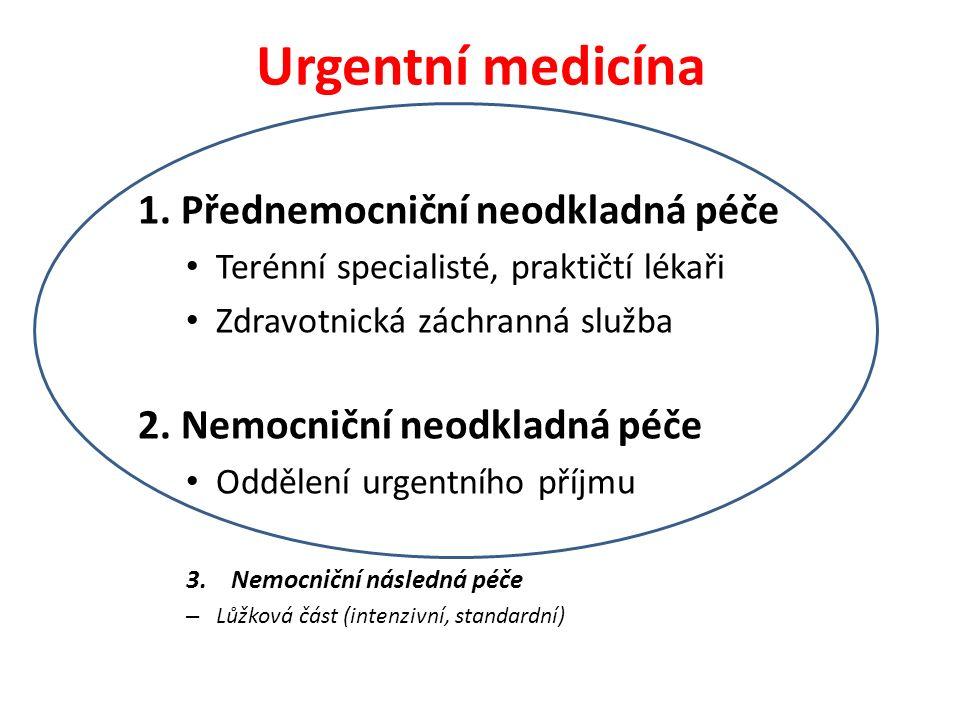 Systém neodkladné péče Co je rozhodující pro fungování celého systému neodkladné péče.
