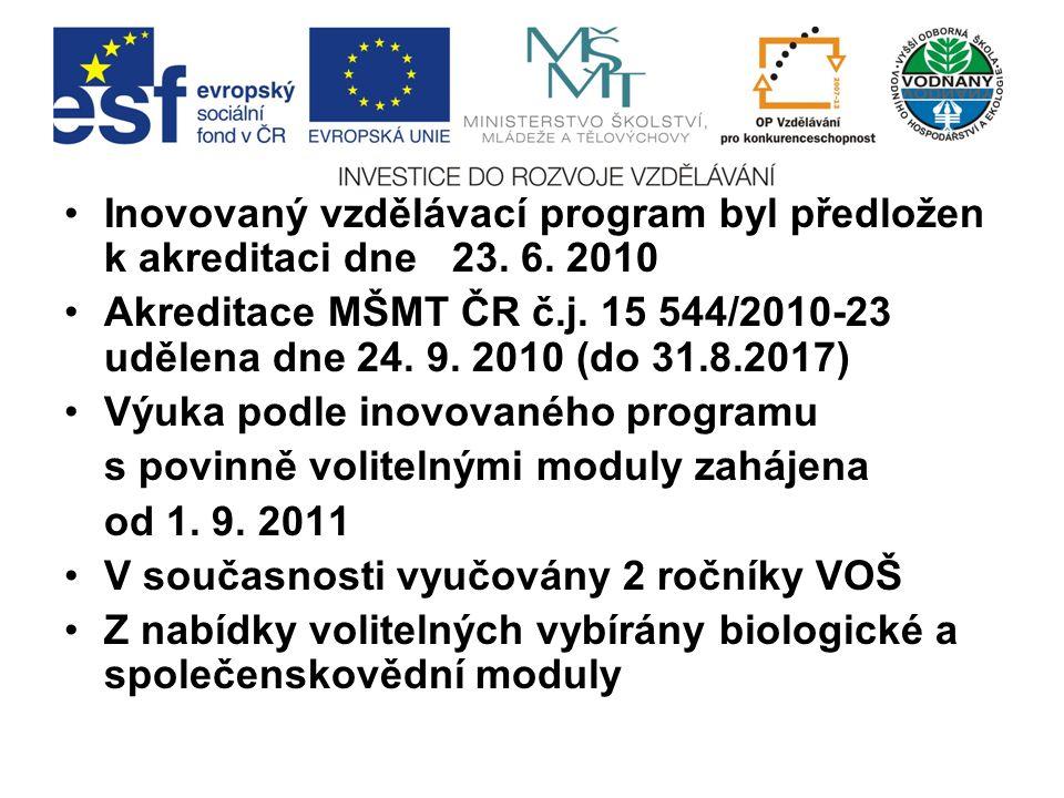 Inovovaný vzdělávací program byl předložen k akreditaci dne 23.