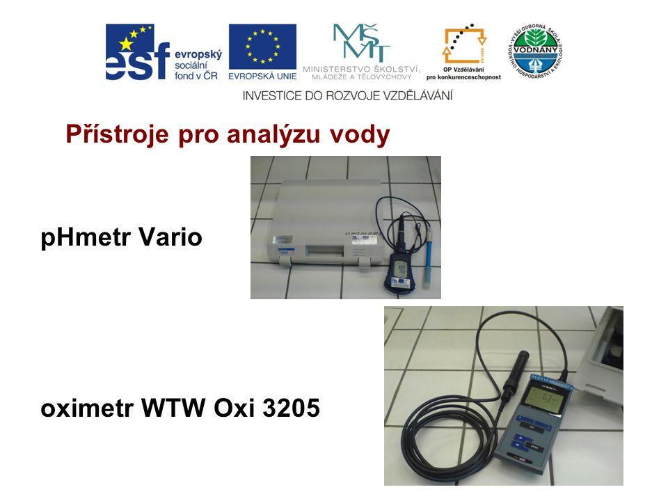 Přístroje pro analýzu vody pHmetr Vario oximetr WTW Oxi 3205