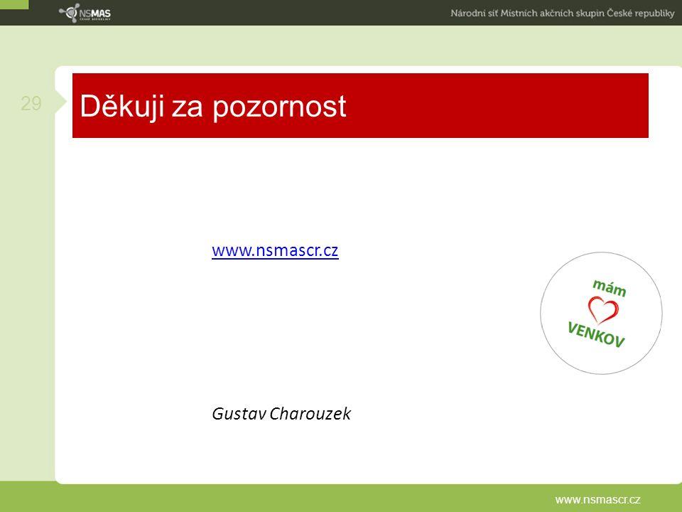 Děkuji za pozornost www.nsmascr.cz Gustav Charouzek 29 www.nsmascr.cz