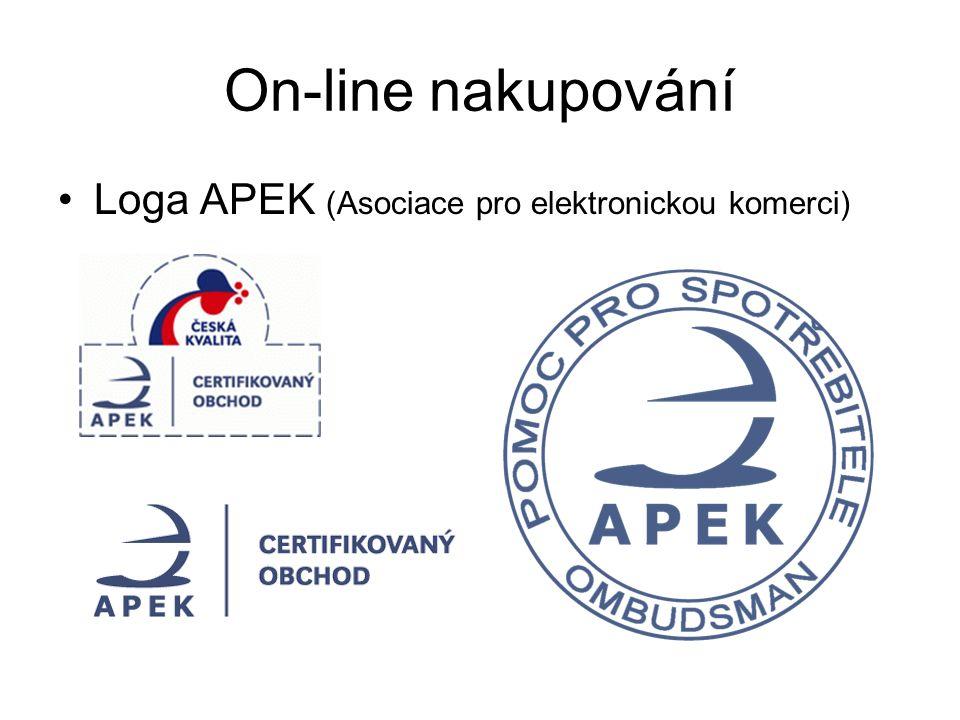 Loga APEK (Asociace pro elektronickou komerci) On-line nakupování