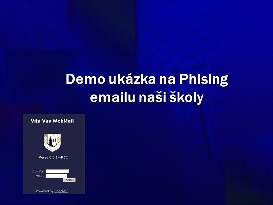 Demo ukázka na Phising emailu naši školy