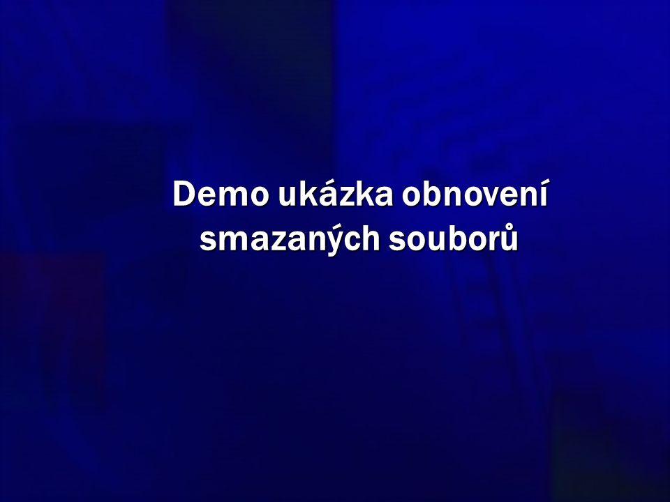 Demo ukázka obnovení smazaných souborů