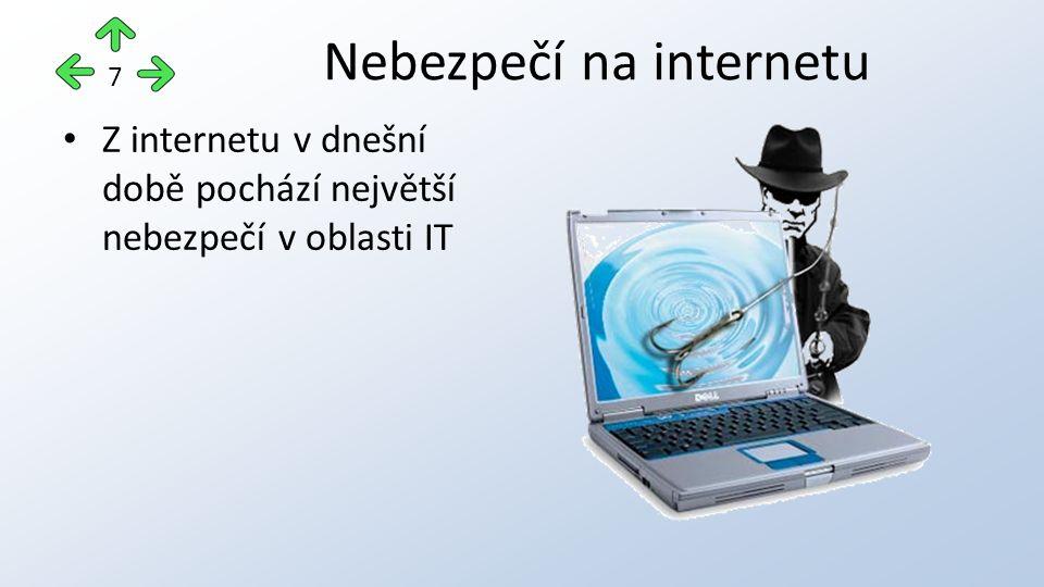 Z internetu v dnešní době pochází největší nebezpečí v oblasti IT Nebezpečí na internetu 7