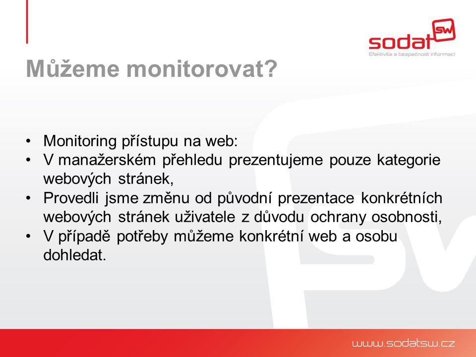 Můžeme monitorovat.