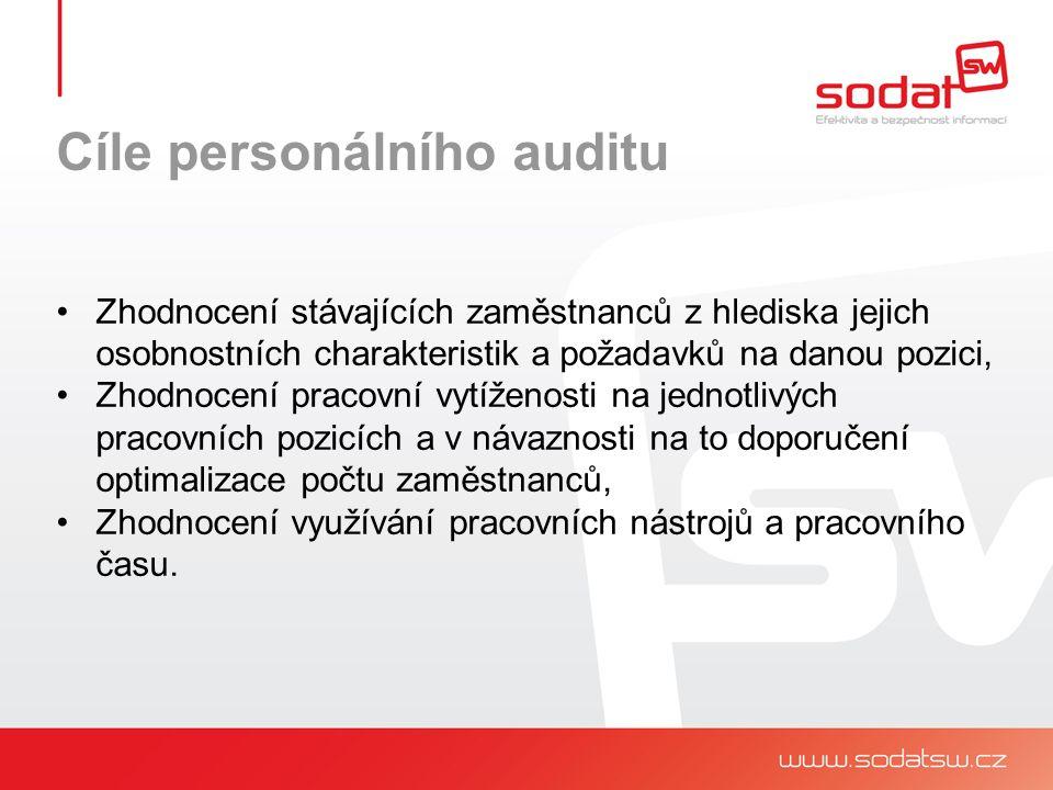 Prostředky personálního auditu Zhodnocení stávajících zaměstnanců z hlediska jejich osobnostních charakteristik a požadavků na danou pozici: Řízený pohovor Psychologické dotazníky Hodnocení vedoucích pracovníků ….