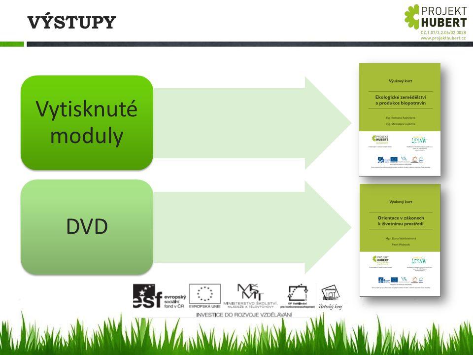 VÝSTUPY Vytisknuté moduly DVD