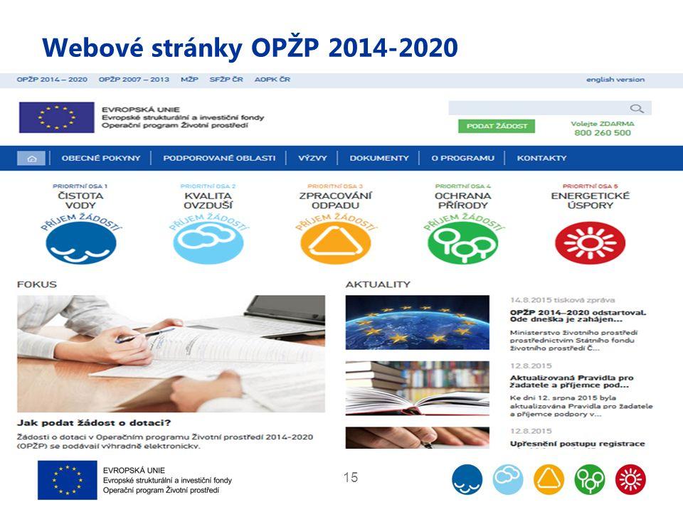 Webové stránky OPŽP 2014-2020 15