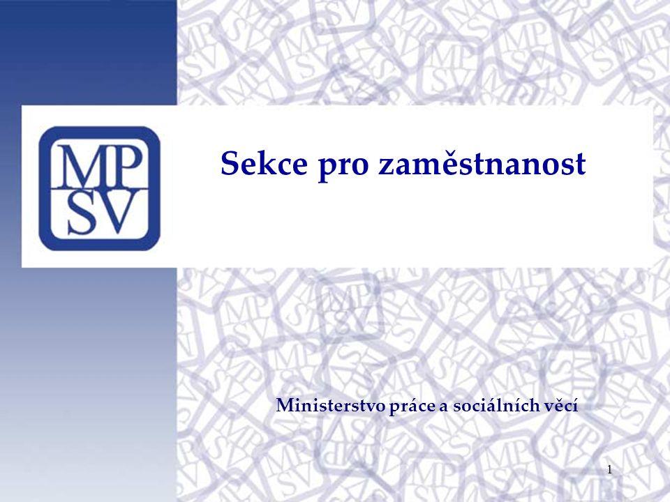 Sekce pro zaměstnanost Ministerstvo práce a sociálních věcí 1