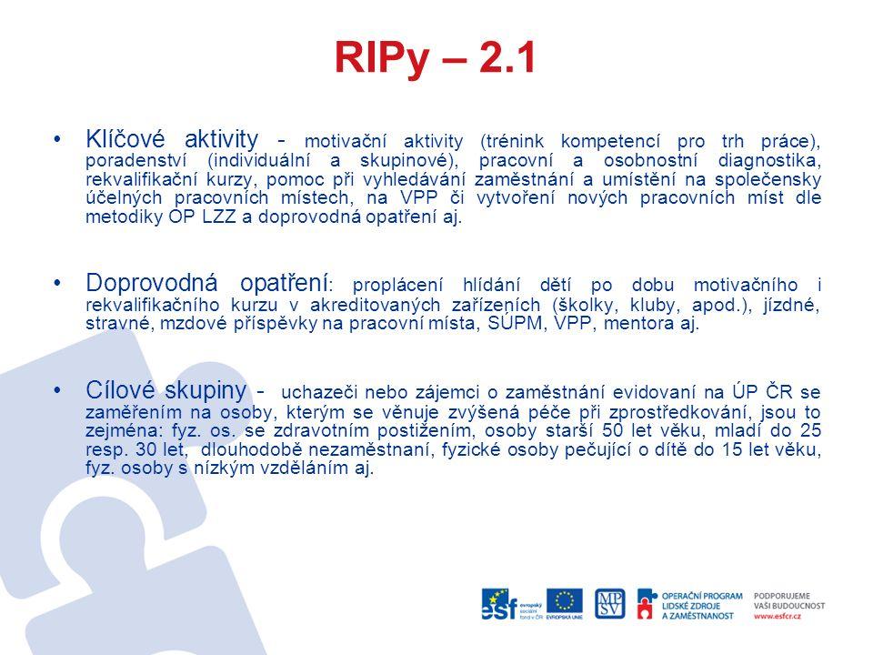 RIPy – 2.1- Odborné praxe pro mladé do 30 let v...