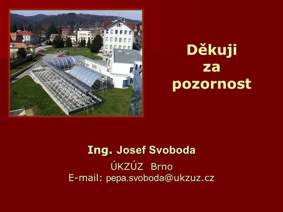 Děkuji za pozornost Ing. Josef Svoboda ÚKZÚZ Brno E-mail: pepa.svoboda @ukzuz.cz
