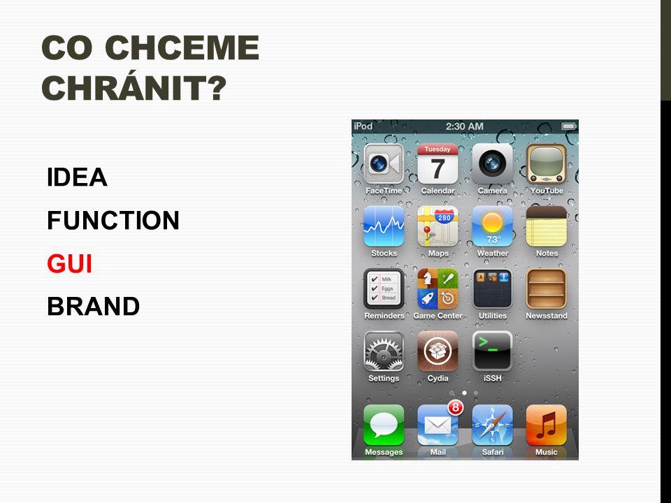 CO CHCEME CHRÁNIT? IDEA FUNCTION GUI BRAND