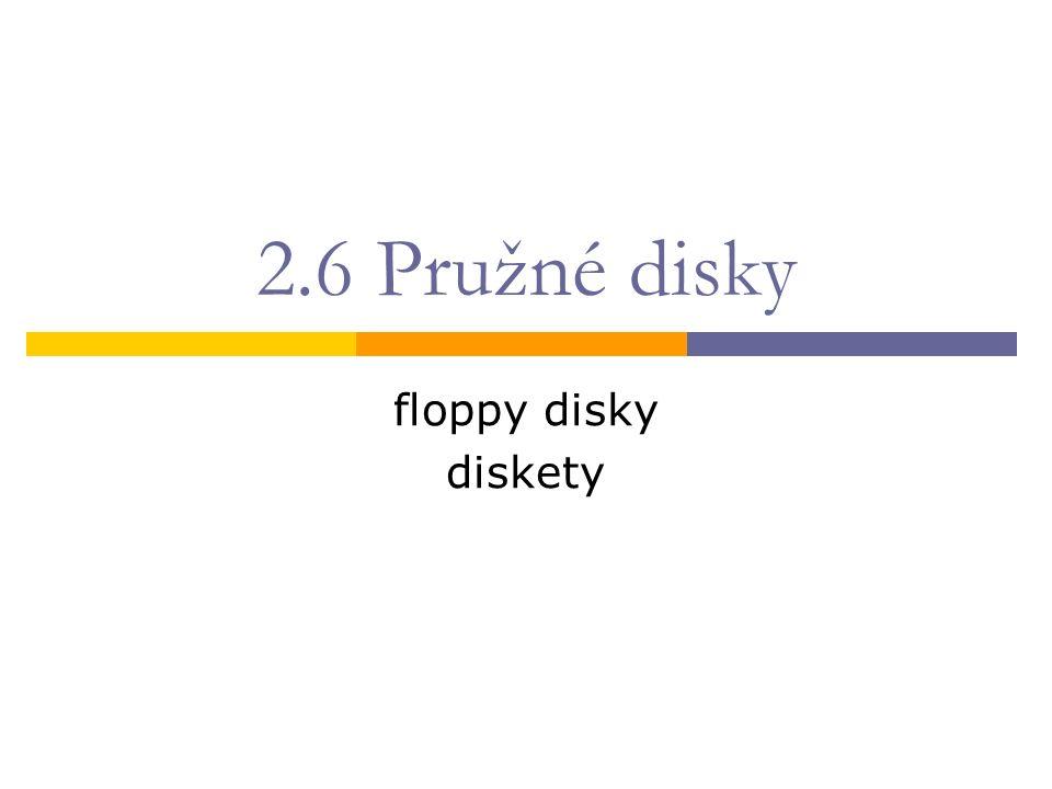 2.6 Pružné disky floppy disky diskety