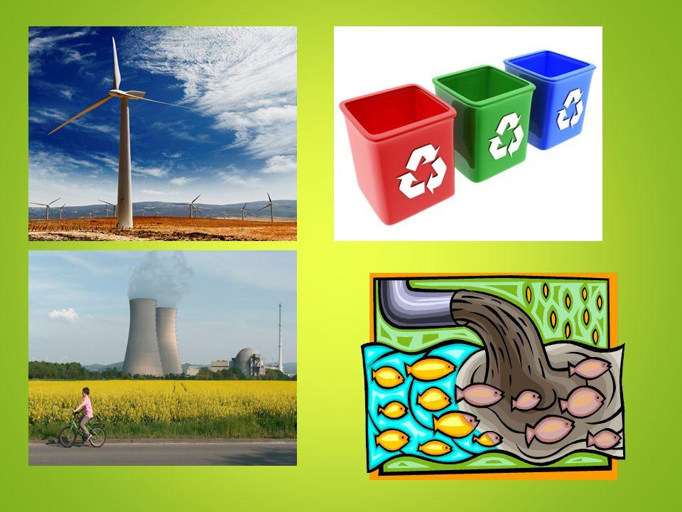 Odpovědi na otázky Šetřit s pitnou vodou, používat úsporné žárovky, třídit odpad, nepoužívat igelitové tašky, jezdit na kole nebo autobusem, vysazovat stromy … Modrý – papír, žlutý – plast, bílý – bílé sklo, zelený – barevné sklo, červený – baterie a drobné elektro Může dojít k recyklaci odpadu = k opětovnému využití odpadu