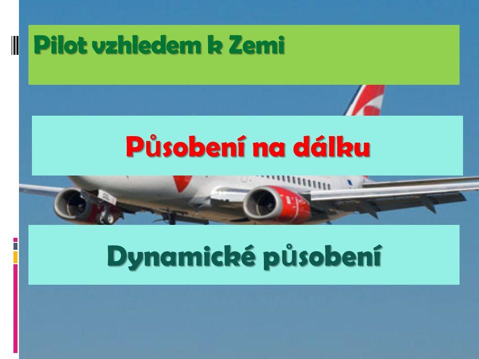 Pilot vzhledem k Zemi P ů sobení na dálku Dynamické p ů sobení