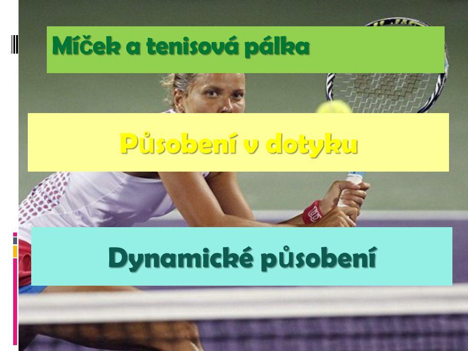 P ů sobení v dotyku Mí č ek a tenisová pálka Dynamické p ů sobení