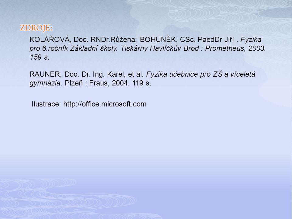 Ilustrace: http://office.microsoft.com KOLÁŘOVÁ, Doc.