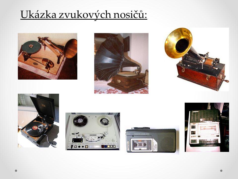 Ukázka zvukových nosičů:
