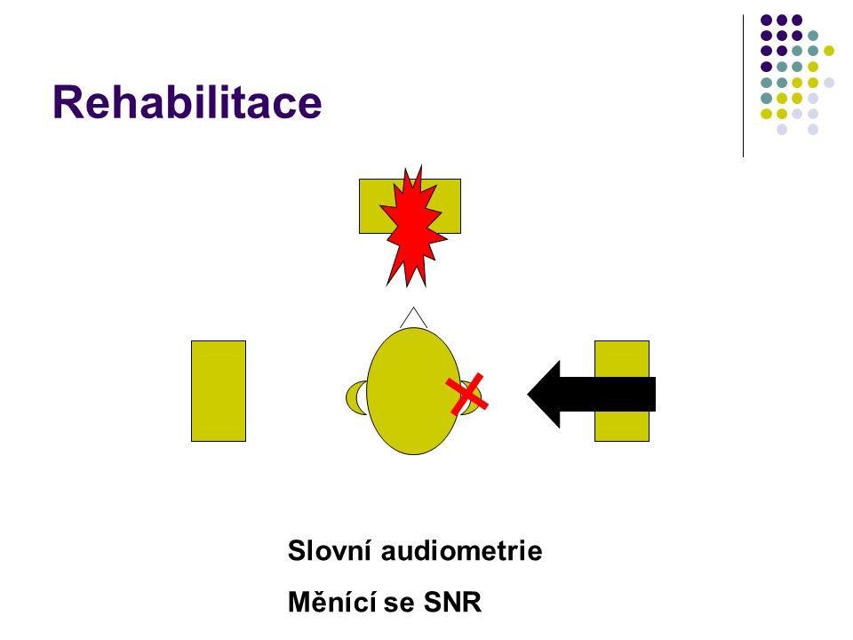 Rehabilitace Slovní audiometrie Měnící se SNR