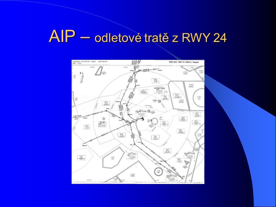 AIP – odletové tratě z RWY 24
