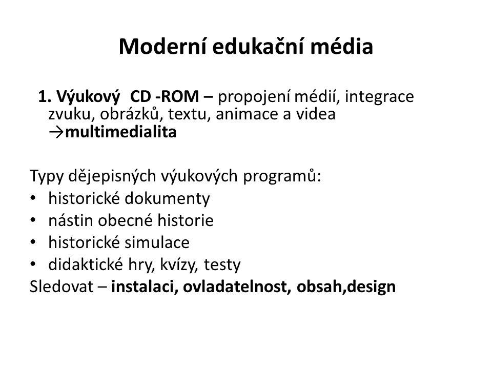 Moderní edukační média 1.