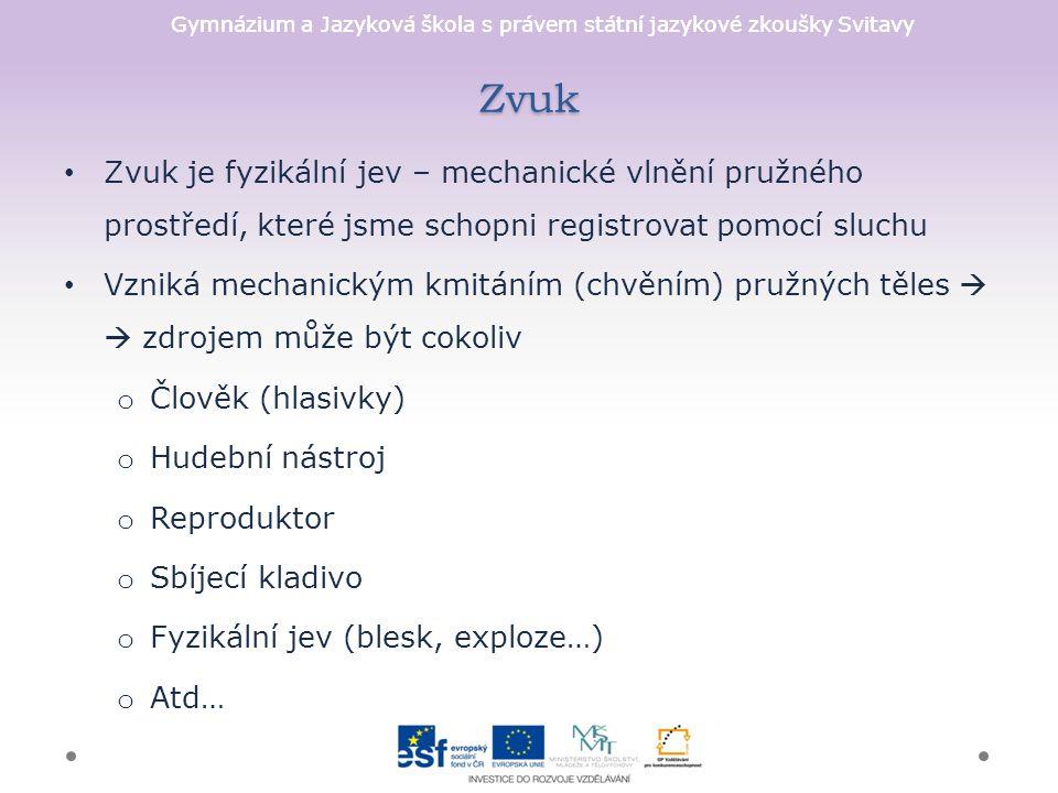 Gymnázium a Jazyková škola s právem státní jazykové zkoušky Svitavy Kontrola 1. 2. 3. 4. 5. 6. 7.