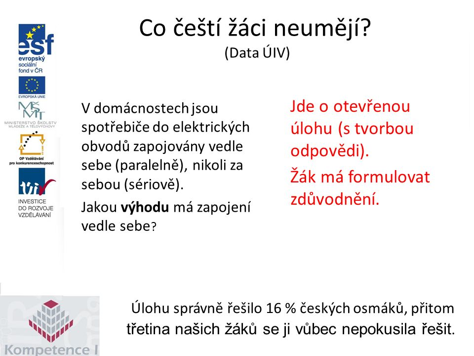 Co čeští žáci neumějí.