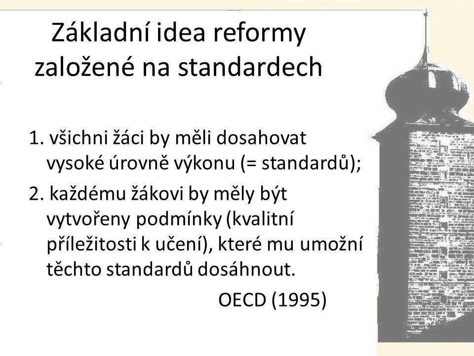Základní idea reformy založené na standardech 1.