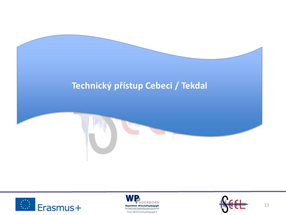 13 Technický přístup Cebeci / Tekdal
