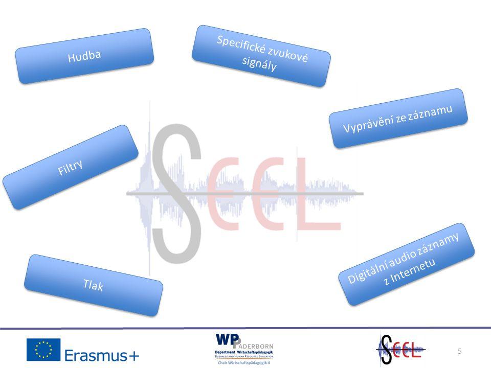 5 Specifické zvukové signály Vyprávění ze záznamu Digitální audio záznamy z Internetu Tlak Filtry