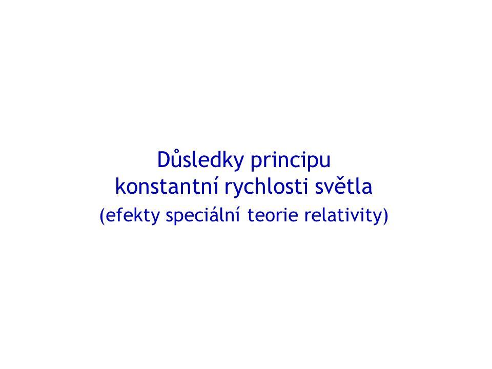 Důsledky principu konstantní rychlosti světla (efekty speciální teorie relativity)