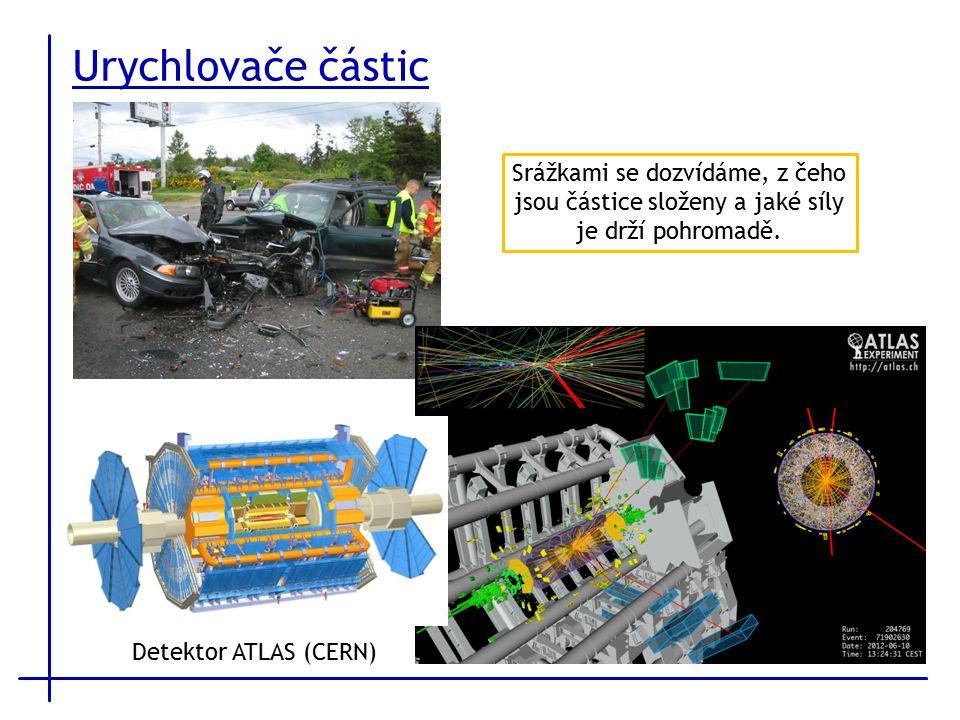 Urychlovače částic Srážkami se dozvídáme, z čeho jsou částice složeny a jaké síly je drží pohromadě.