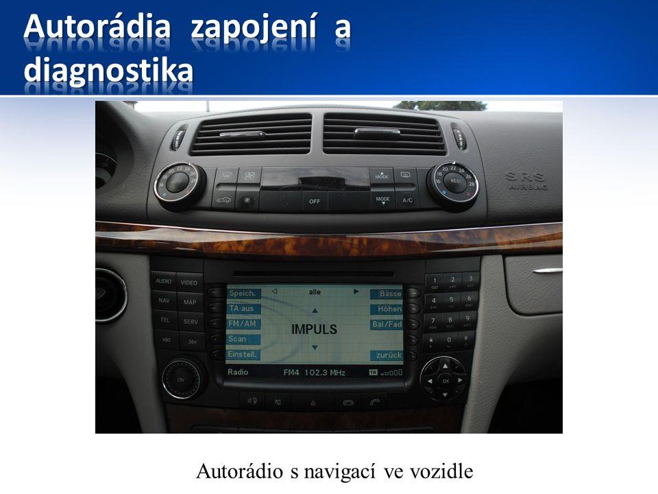 Autorádio s navigací ve vozidle